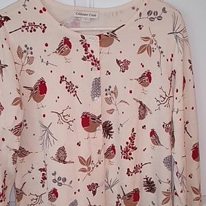 Coldwater Creek cardigan size large with birds
